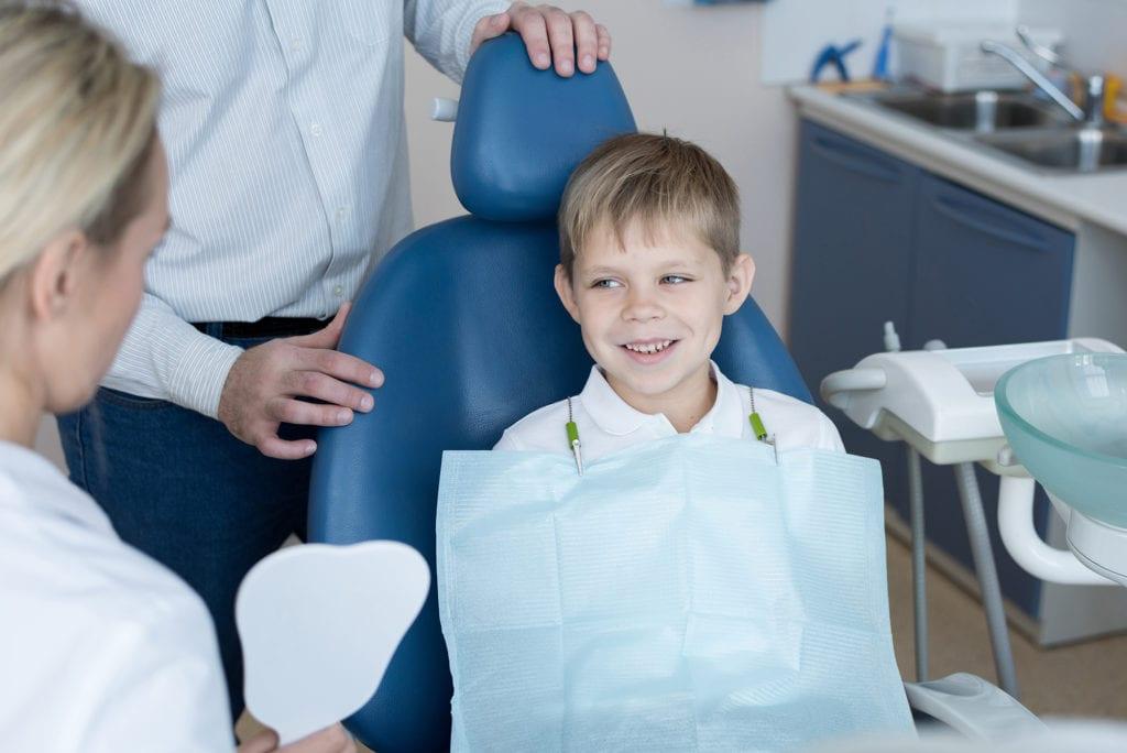 Boy at dentist