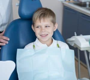 Boy at dental clinic