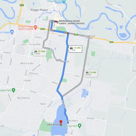Lake Abert to Marketplace Dental Wagga