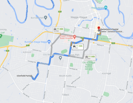 Glenfield Park Map and directions